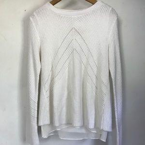 Lucky Brand White Layered Sweater